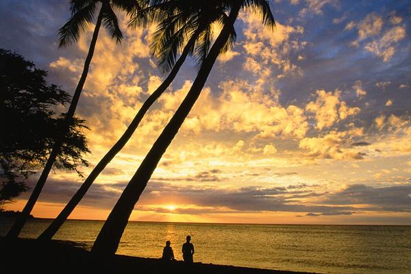 غروب الشمس من جزر هاواي