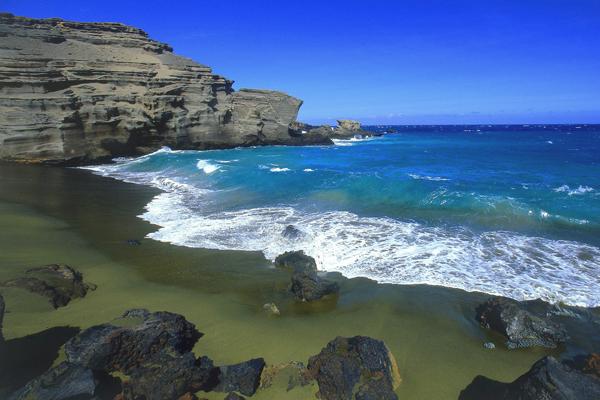 شاطئ باباكوليا، هاواي Papakolea Beach