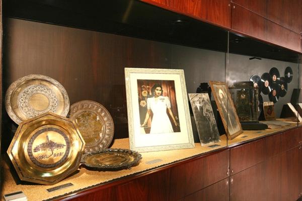 بعض من صور أم كلثوم في متحفها بالقاهرة