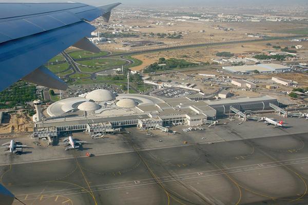 صورة من أعلى لمطار الشارقة الدولي