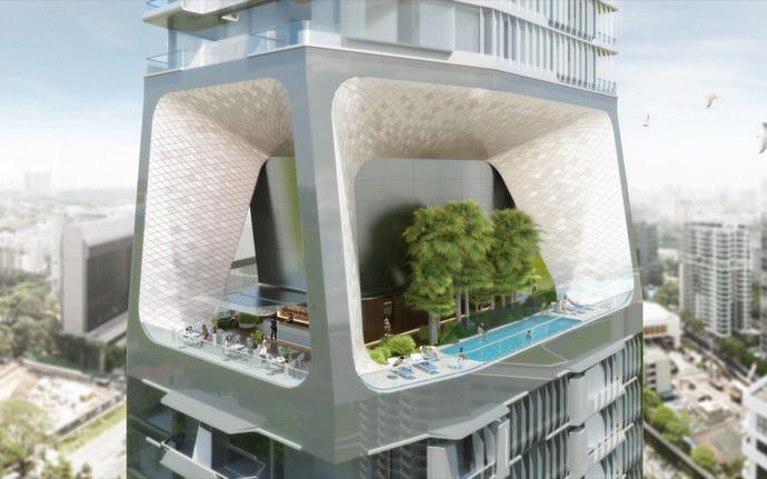 منططة Sky Garden الموجود بين المناطق السكنية