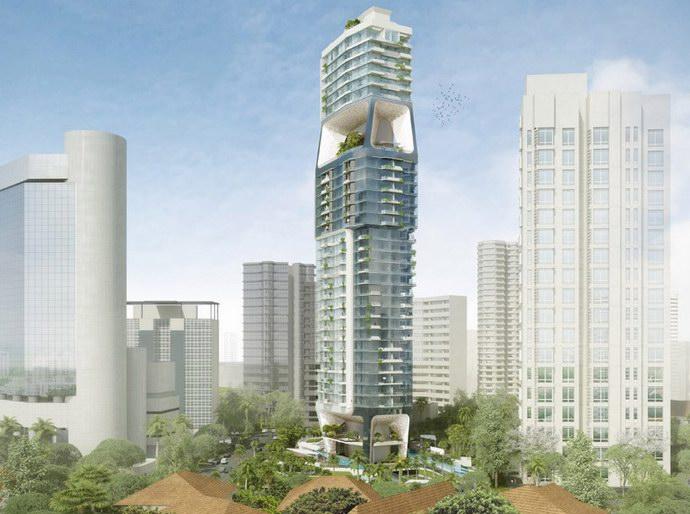 المدينة الرأسية بين معالم سنغافورة الشهيرة