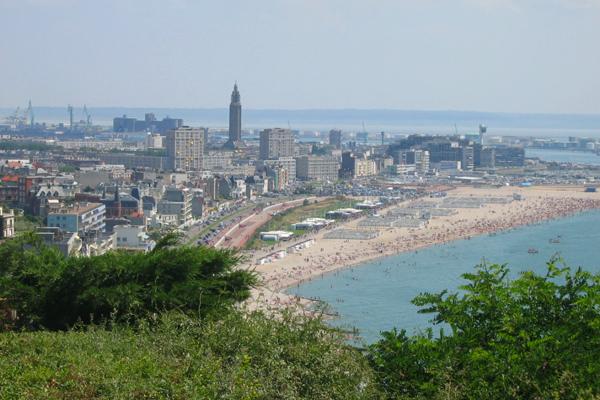 """صورة لمدينة """"لو هافر"""" الساحلية"""