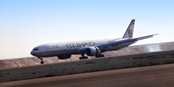 طائرة الاتحاد للطيران من طراز بوينج 777-300ER