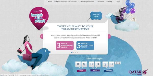 """مسابقة """"تغريدة ـ فلقاء"""" من الخطوط الجوية القطرية"""