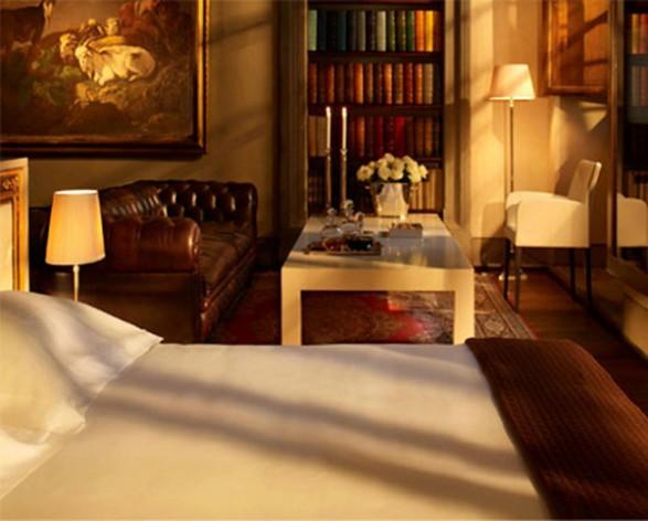 إحدى الغرف الجميلة في فندق سلفياتينو.