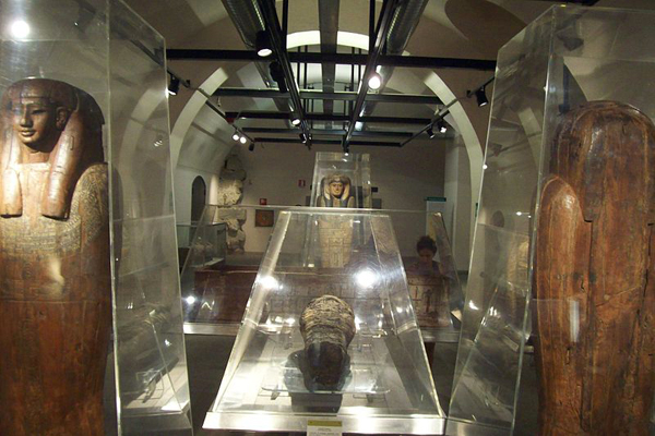 جانب من المتحف المصري داخل قلعة سفورزا