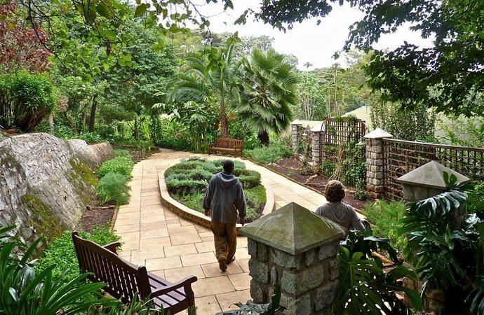 الحديقة الخاصة بأحد البيوت داخل مزرعة جيبس