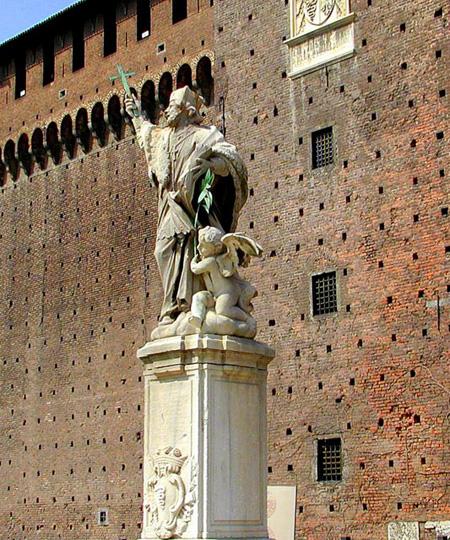 العمل الفني الرائع لتمثال الباروك للقديس يوحنا الحامي من الجنود