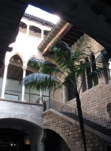 صورة داخلية لمتحف بيكاسو ، وسط برشلونة