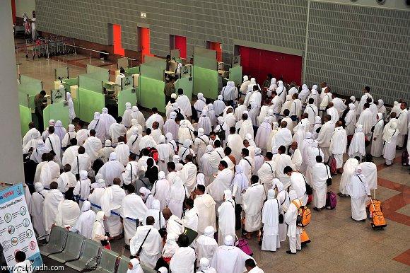 الحجاج فى مطار الملك عبد العزيز الدولي
