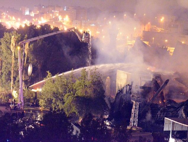 حريق بفندق الإنتركونتيننتال مكة