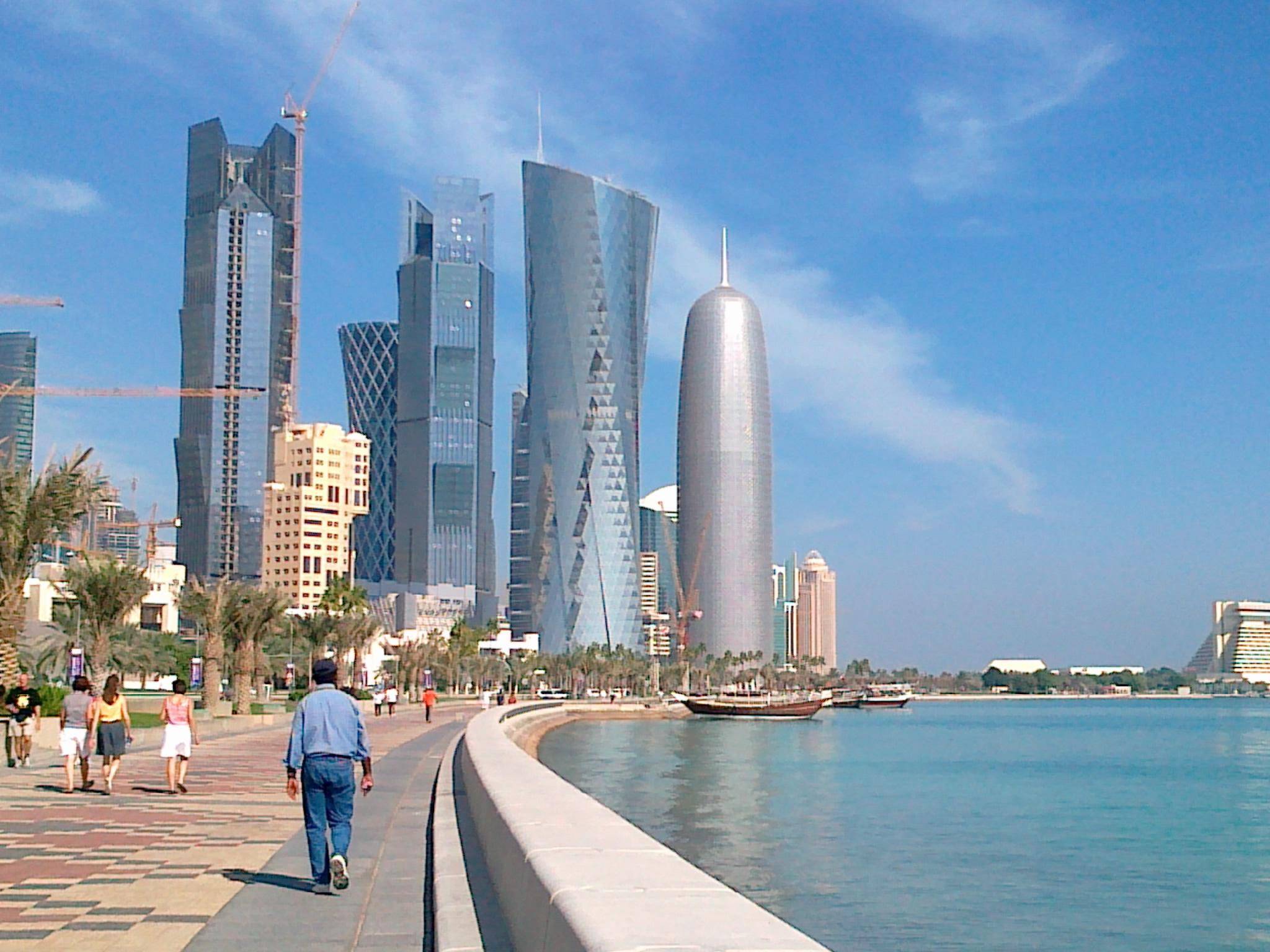 جانب من كورنيش الدوحة
