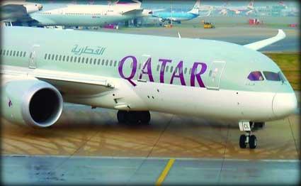 """""""القطرية"""" تعلن عن مواعيد جديدة لرحلاتها إلى مسقط وأبوظبي"""