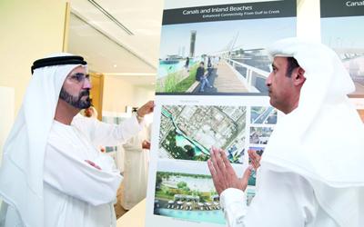 قناة ملاحية معلقة بطول كيلو مترين في دبي