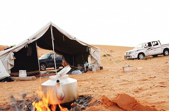 التخييم بالصحراء