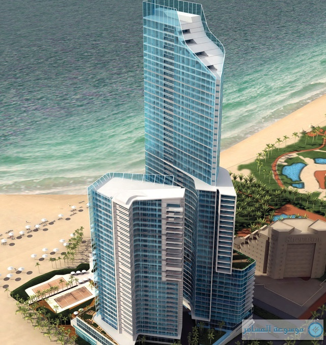 مجسم فندق هيلتون دبل تري شاطئ الجميرا