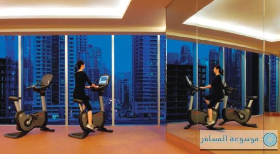 مركز اللياقة البدنية في فندق العنوان مرسى دبي