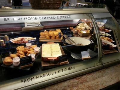 """زاوية صغيرة من المعروضات الغذائية في """"هارودز""""- خاص بموسوعة المسافر."""
