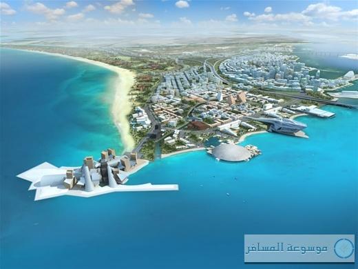 افتتاح أول شاطئ عام على جزيرة السعديات
