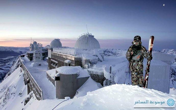 مازال موسم الثلوج على أشده على جبال برينيس
