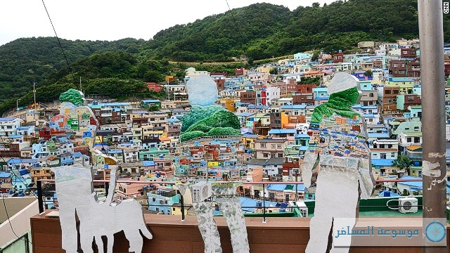 """""""جامشيون"""" في كوريا الجنوبية.. قرية سياحية تطارد محبي الفن والجمال في العالم"""