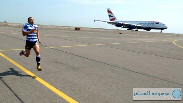 """ A380"".. طائرة الخطوط الجوية البريطانية في سباق مع الانسان"