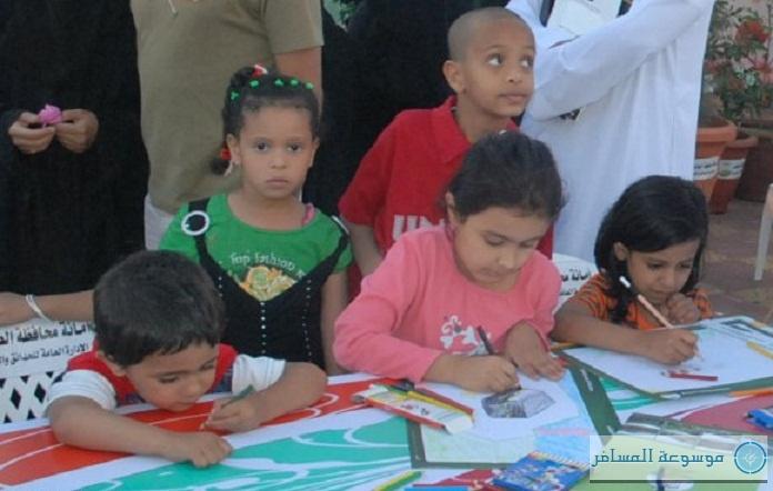 مشاركة الأطفال في مسابقة الرسام الصغير