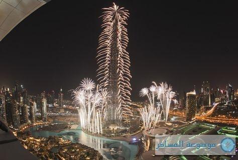 """سماء دبي تتزين بالألعاب النارية ابتهاجاً باقتناص إكسبو 2020"""""""