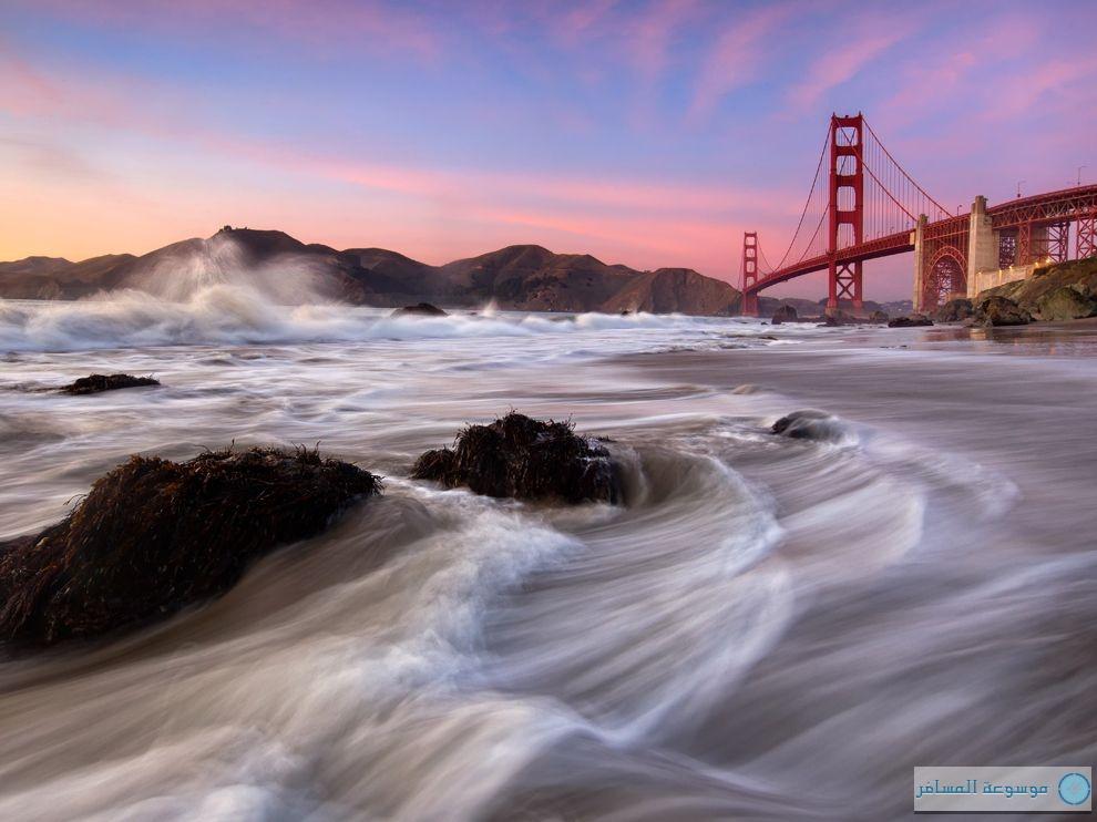 جسر غولدن غيت في سان فرانسيسكو