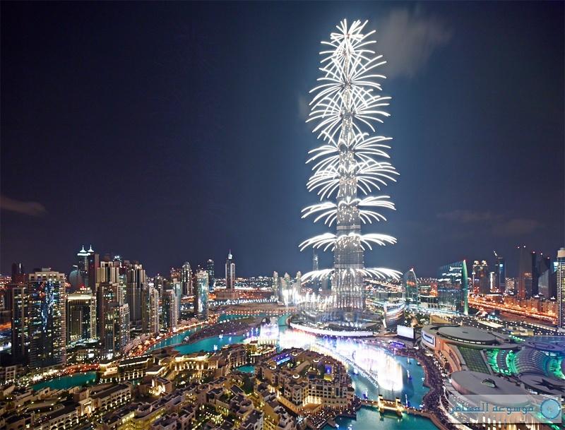 برج خليفة ليلة رأس السنة