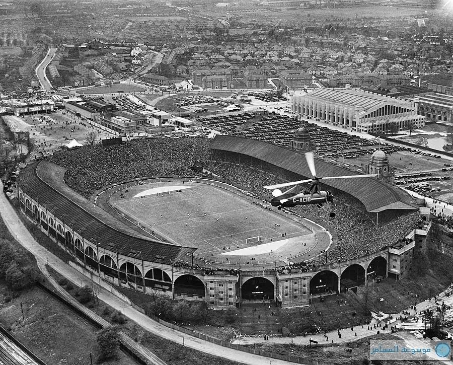 بريطانيا من فوق : كأس الاتحاد الانجليزي استاد ويمبلي النهائي (ملعب الإمبراطورية)، ويمبلي بارك، لندن، 27 أبريل