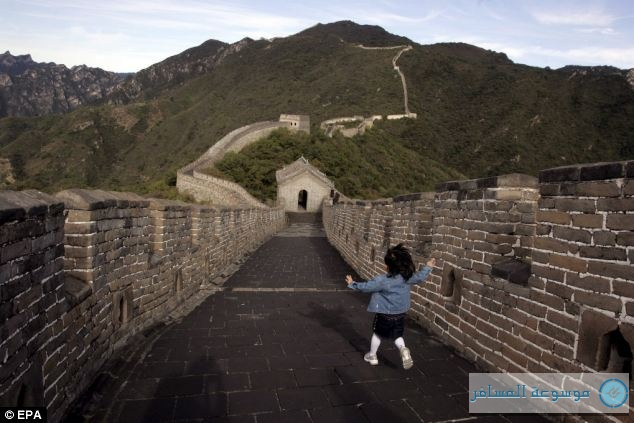 A part of the Mutianyu section (pictured here) of the Great Wall of China has been chosen as a spot for tourists to scrawl graffiti