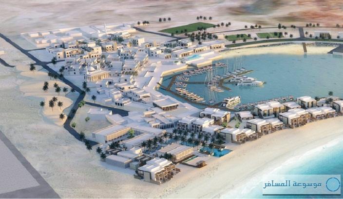 المخطط التصميمي لمشروع جزيرة صير بونعير