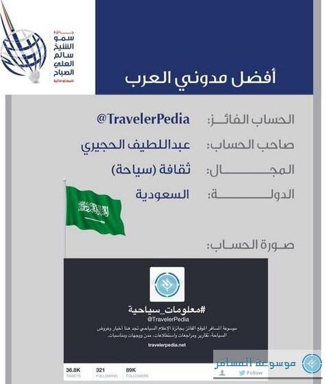 جائزة سمو الشيخ سالم العلي الصباح لأفضل مدون العرب