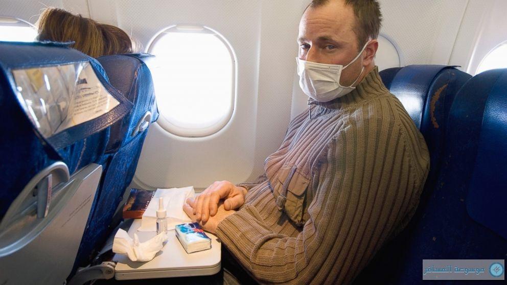 الطائرات هي موطن لأمراض البرد،