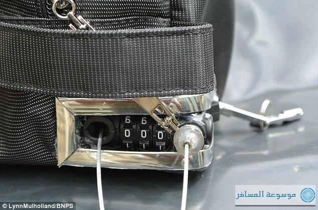 حقيبة تطلق صافرة إنذار إذا حاول اللصوص سرقتها