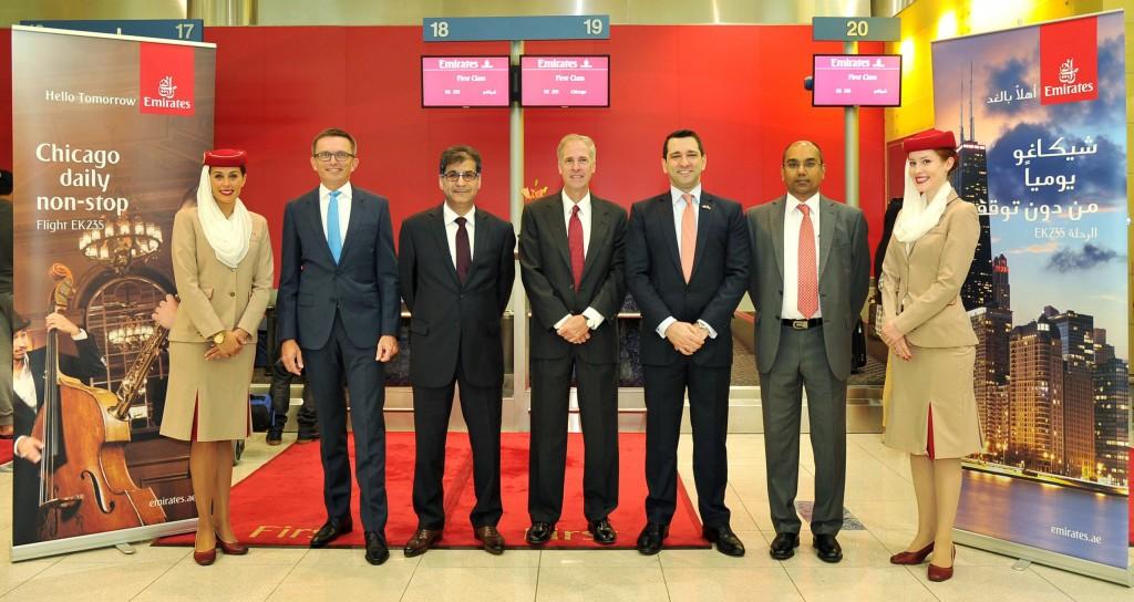 افتتاح خط طبران الإمارات دبي شيكاغو