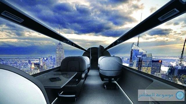 طائرة ركاب بشاشة افتراضية وبلا نوافذ