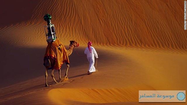 جوجل ستريت فيو ، جمل صحراء ليوا (2)