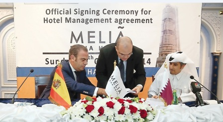 توقيع اتفاقية إدارة فندق ميليا الدوحة