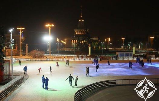 موسكو أكبر حلبة تزلج في العالم