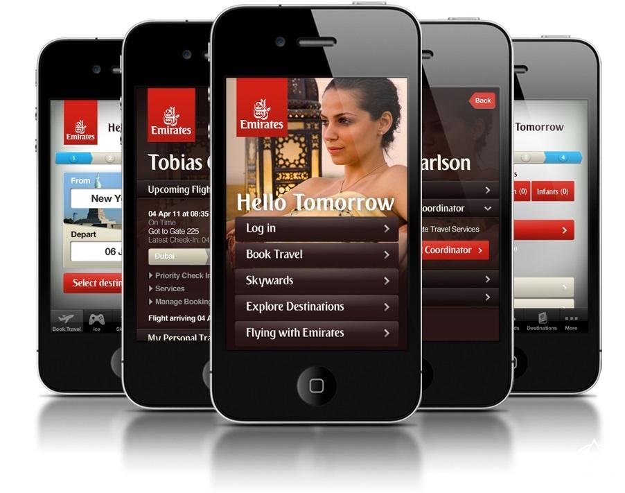 """طيران الإمارات تطرح """"The Emirates App"""" على الآيفون"""