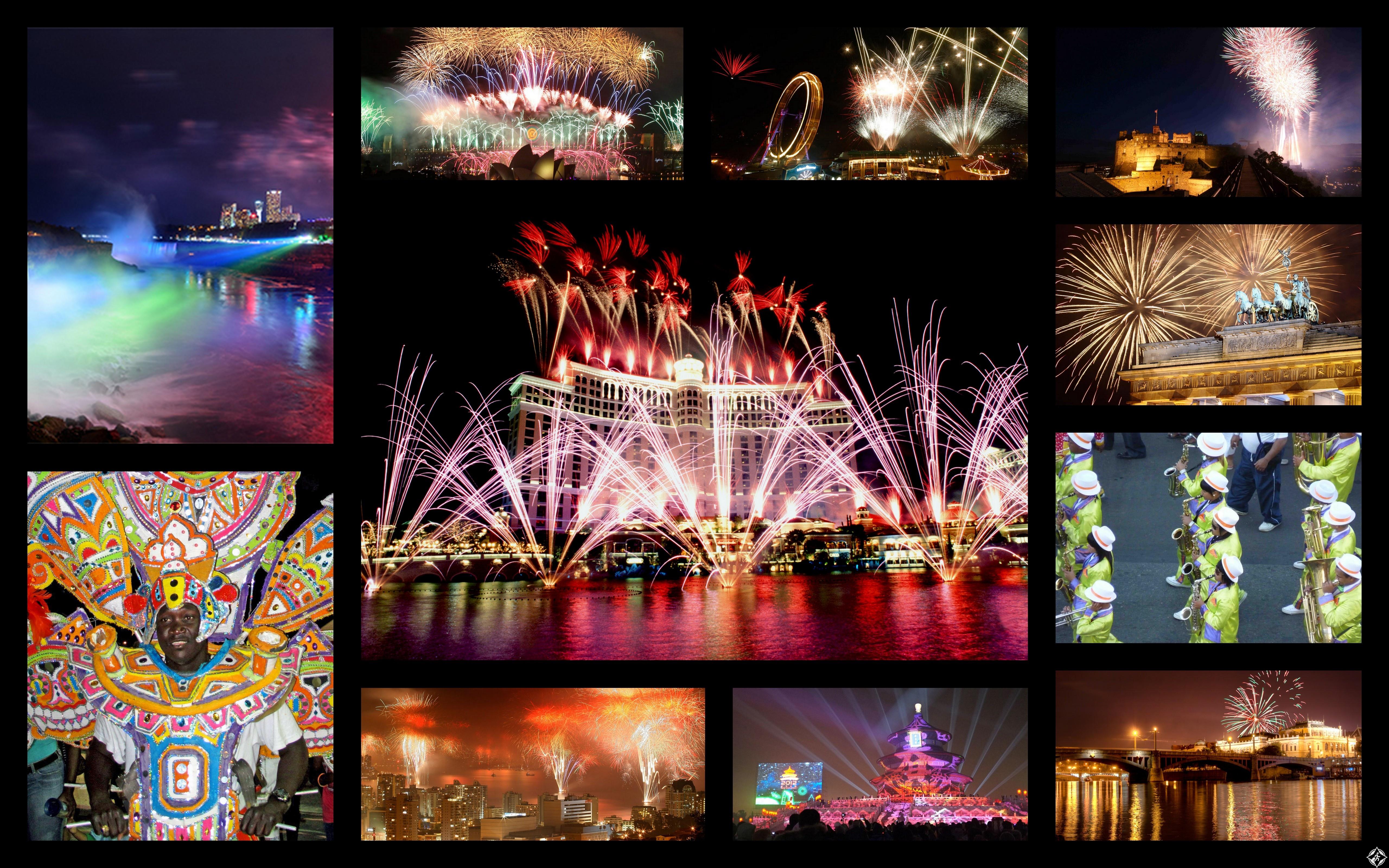 احتفالات ليلة رأس السنة الجديدة 2015