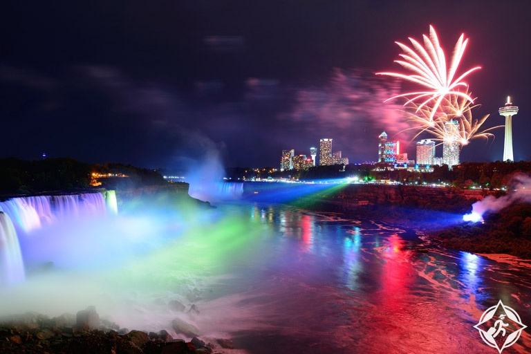احتفالات ليلة رأس السنة الجديدة (9) شلالات نياجارا ، كندا