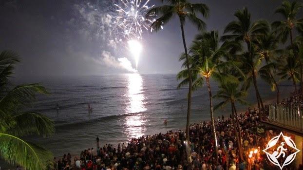 احتفالات ليلة رأس السنة الجديدة (9) ماوي- هاواي