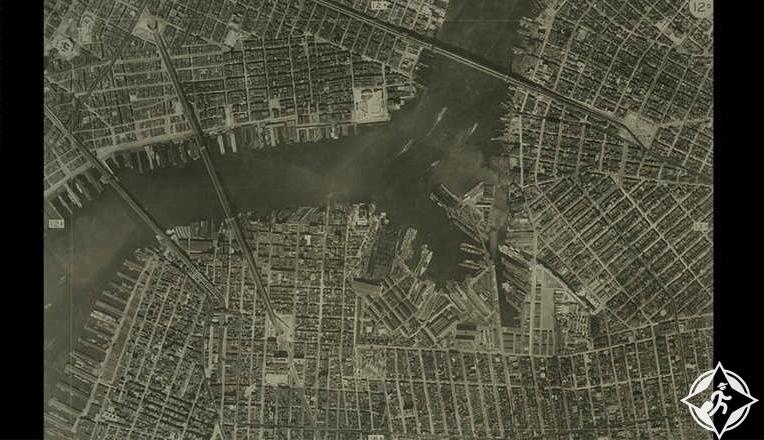 الصور الجوية لتصميم الشوارع والطرق الفرعية