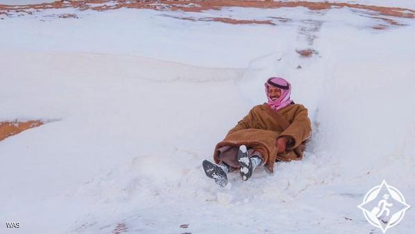 ثلوج السعودية