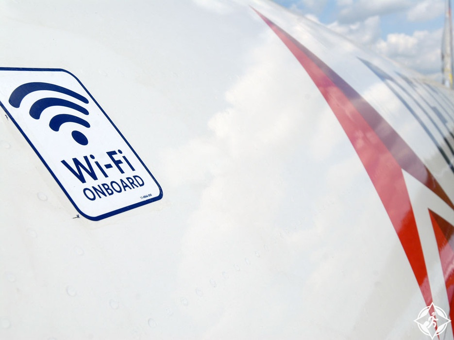 واي فاي على الطائرات