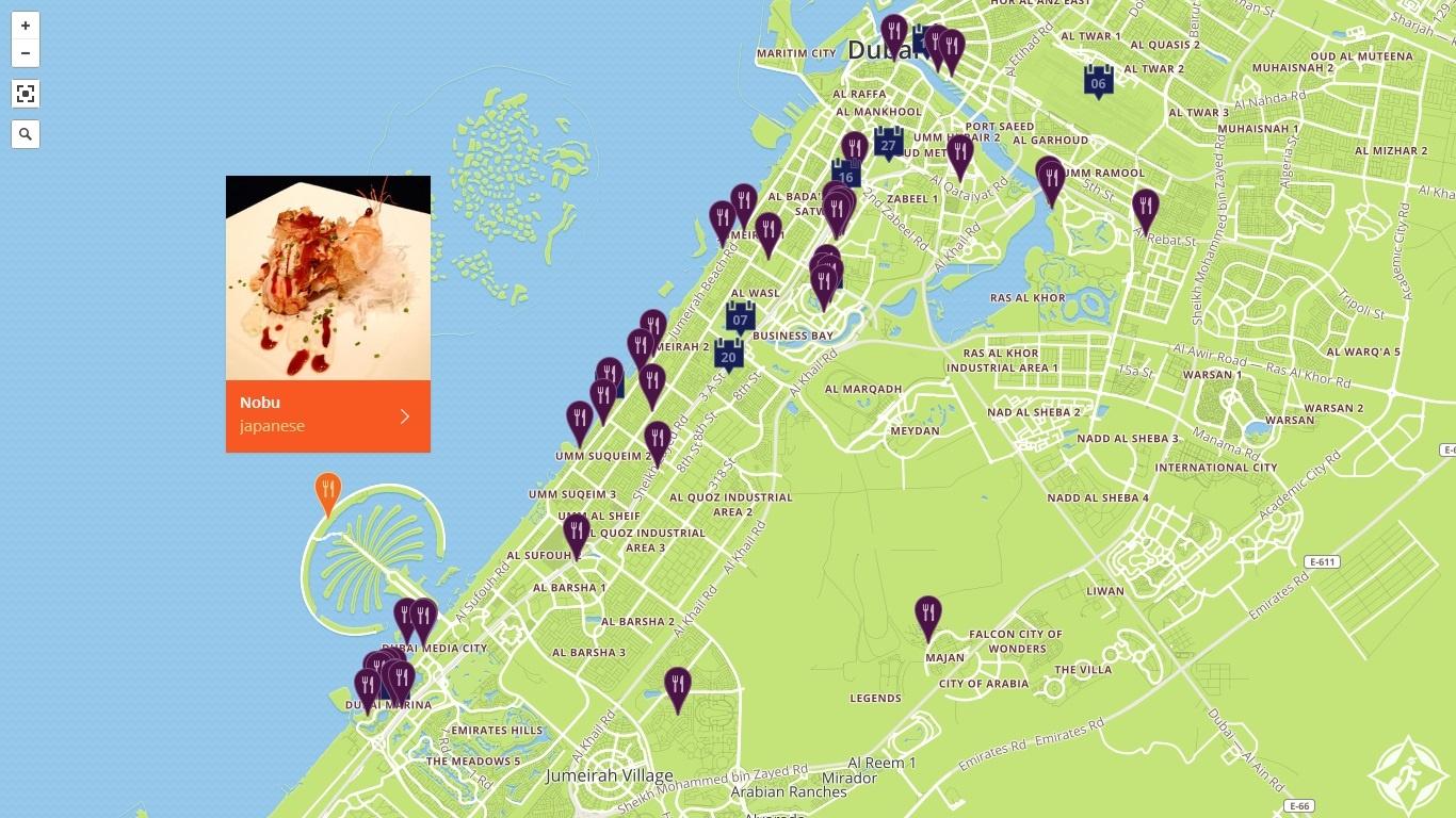 خريطة دبي للنكهات